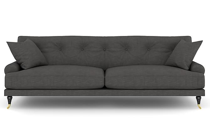 Sohva Webber 3:n ist - Tummanharmaa Messinki - Huonekalut - Sohvat - Howard-sohvat