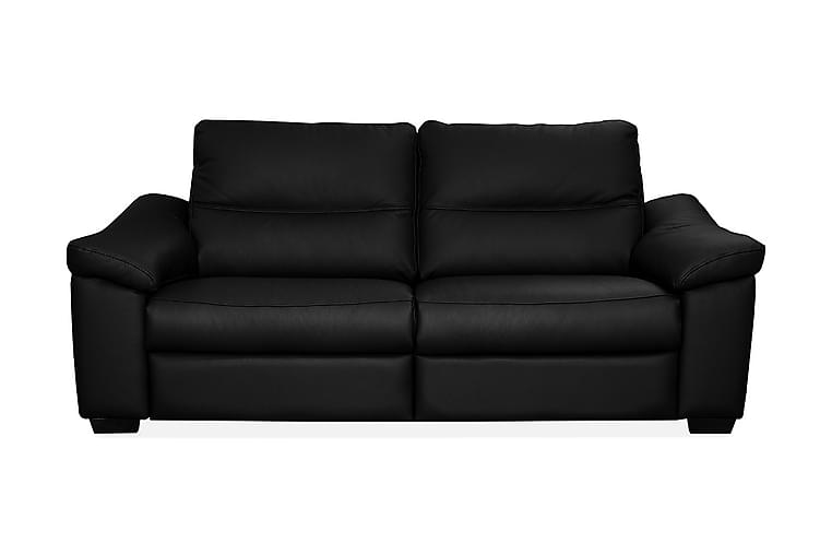 Sohva Hampton 2,5:n ist - Musta - Huonekalut - Sohvat - Nahkasohvat