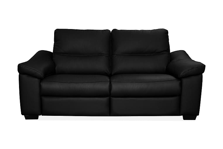 Sohva Hampton 2:n ist - Musta - Huonekalut - Sohvat - Nahkasohvat