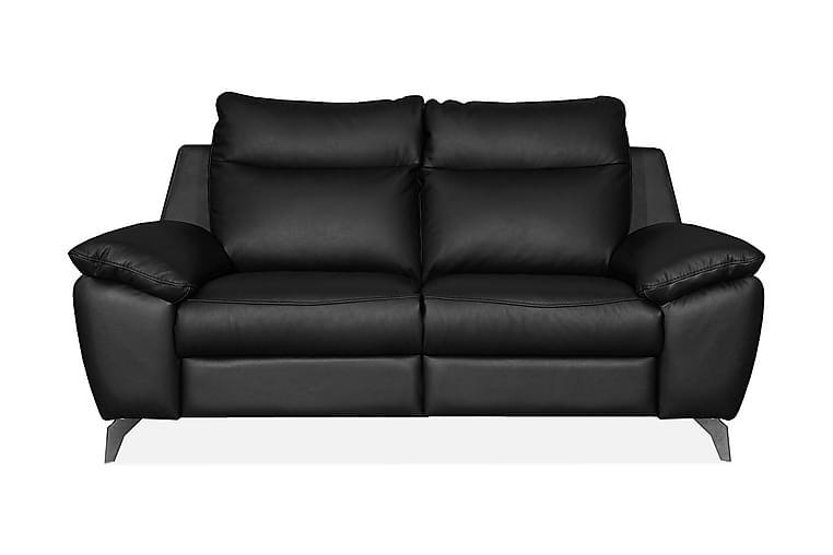 Sohva Perle 2:n ist - Musta - Huonekalut - Sohvat - Nahkasohvat