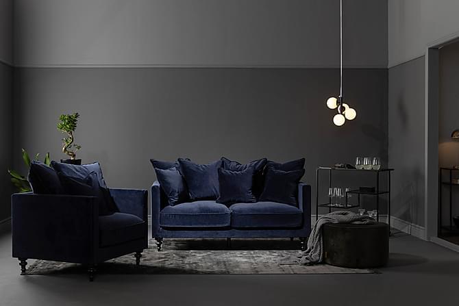 Redene Samettisohva 2:n ist - Sininen - Huonekalut - Sohvat - 2-4 hengen sohvat