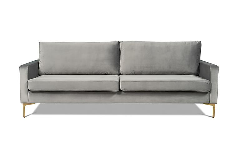 Samettisohva Decebal 3:n ist - Musta - Huonekalut - Sohvat - 2-4 hengen sohvat