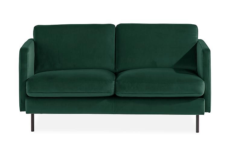 Samettisohva Elion 2:n ist - Vihreä - Huonekalut - Sohvat - 2-4 hengen sohvat