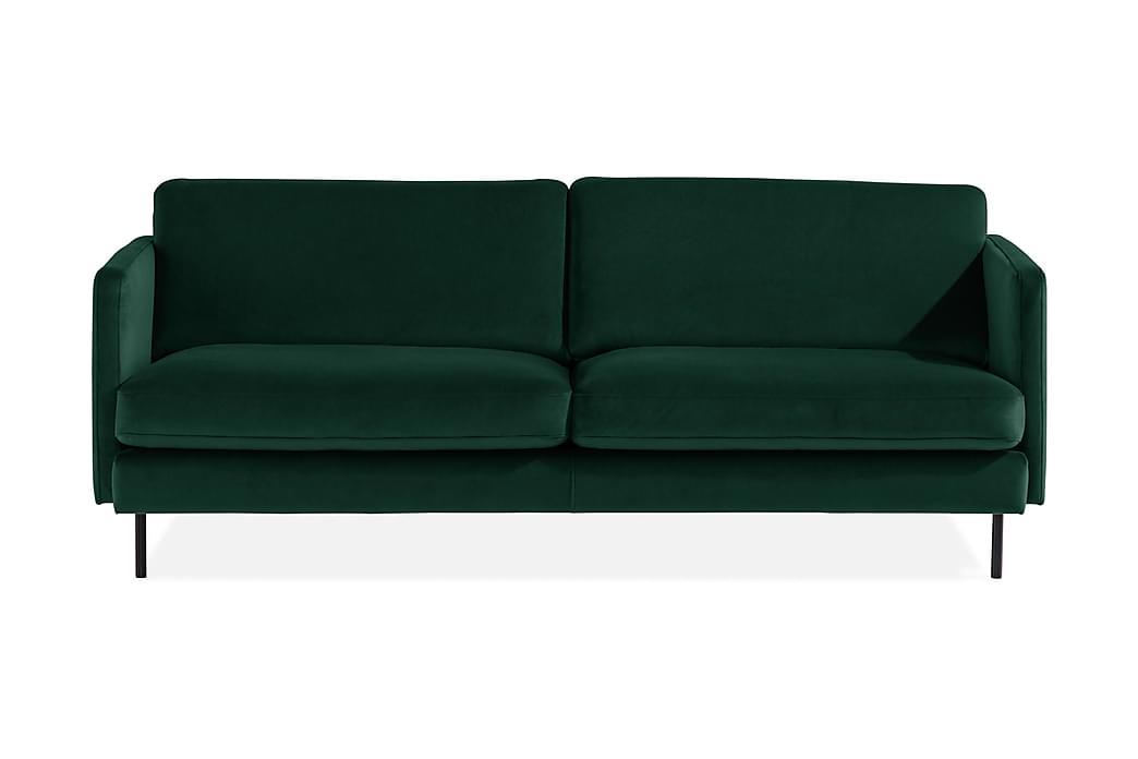 Samettisohva Elion 3:n ist - Vihreä - Huonekalut - Sohvat - 2-4 hengen sohvat