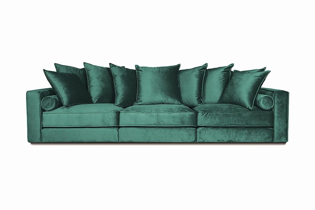 Samettisohva Ladywell 4:n ist - Sininen - Huonekalut - Sohvat - 2-4 hengen sohvat