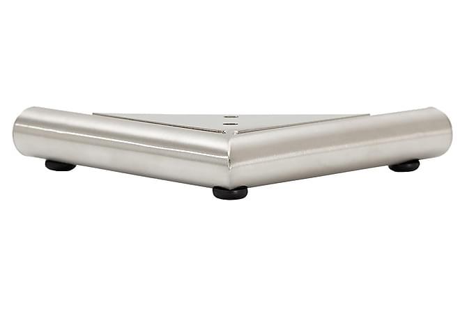 Jalka Malli D 2,5 cm Harjattu teräs - 4-pak - Huonekalut - Sohvat - Sohvan lisäosat