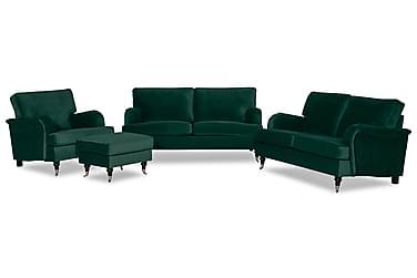 Sohvaryhmä Oxford Classic 3:n ist+2:n ist+tuoli+rahi Sametti
