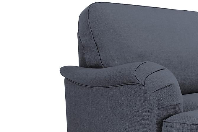 Sohvaryhmä Oxford Lyx 3:n+2:n ist Nojatuoli ja rahi - Sininen - Huonekalut - Sohvat - Sohvaryhmät