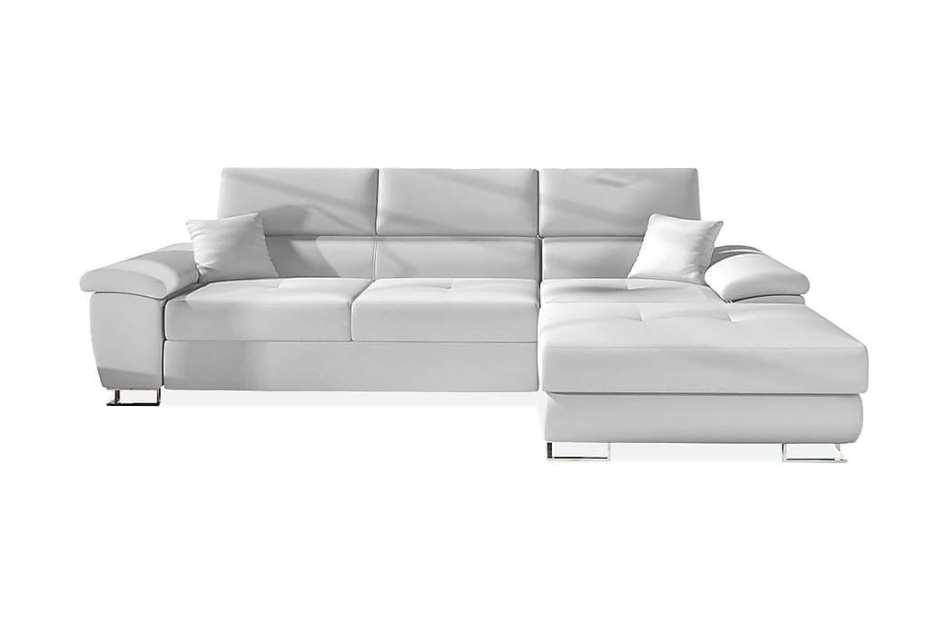Kulmavuodesohva Oertel Oikea LED-valaistus - Valkoinen - Huonekalut - Sohvat - Vuodesohvat