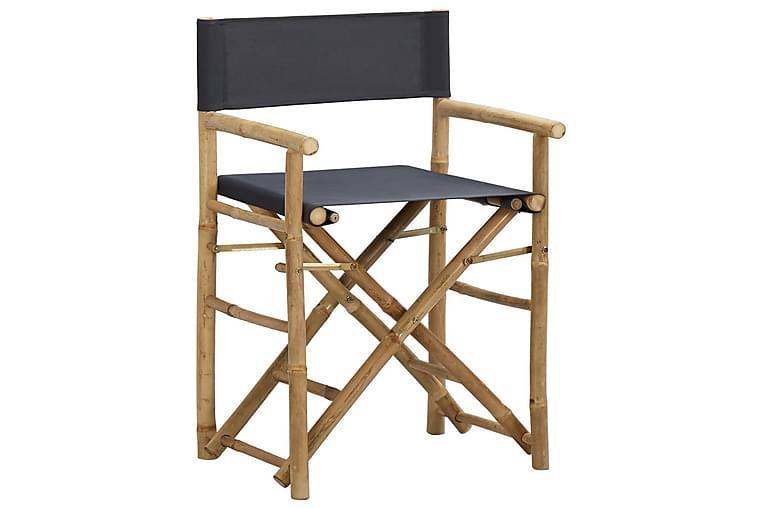 Kokoontaitettava ohjaajantuoli 2 kpl bambu/kangas - Huonekalut - Tuolit - Ohjaajantuolit
