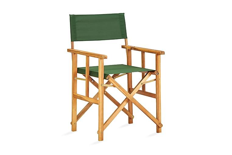 Ohjaajantuolit 2 kpl täysi akaasiapuu vihreä - Vihreä - Huonekalut - Tuolit - Ohjaajantuolit