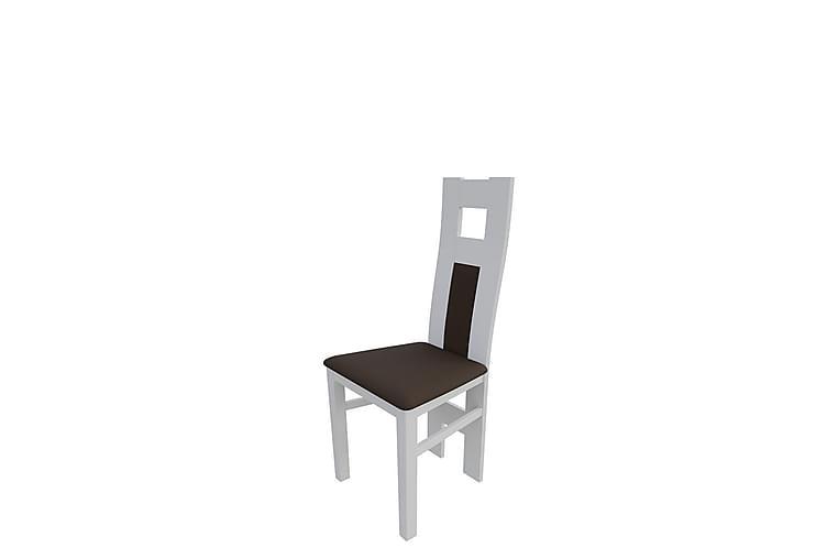 Keittiötuoli Debina - Plyysi/Valkoinen/Ruskea - Huonekalut - Tuolit - Ruokatuolit