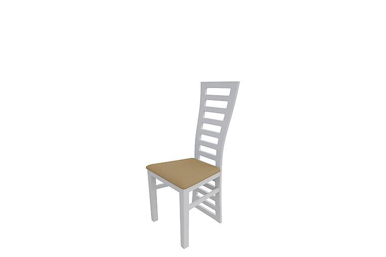 Keittiötuoli Kandira - Plyysi/Valkoinen/Beige - Huonekalut - Tuolit - Ruokatuolit