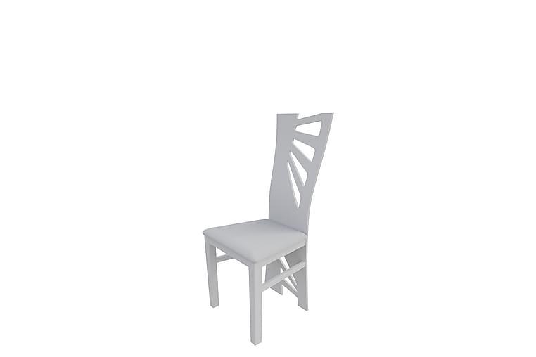Keittiötuoli Tufello - Valkoinen/Ekonahka - Huonekalut - Tuolit - Ruokatuolit