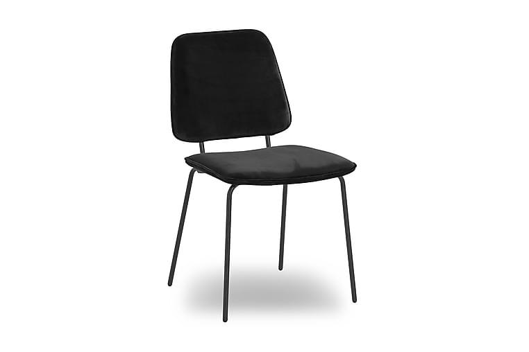Ruokapöytä Eleri Sametti - Musta - Huonekalut - Tuolit - Ruokatuolit