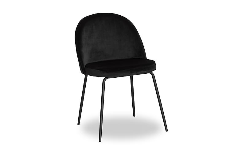 Ruokatuoli Gerardo Sametti - Musta/Musta - Huonekalut - Tuolit - Ruokatuolit