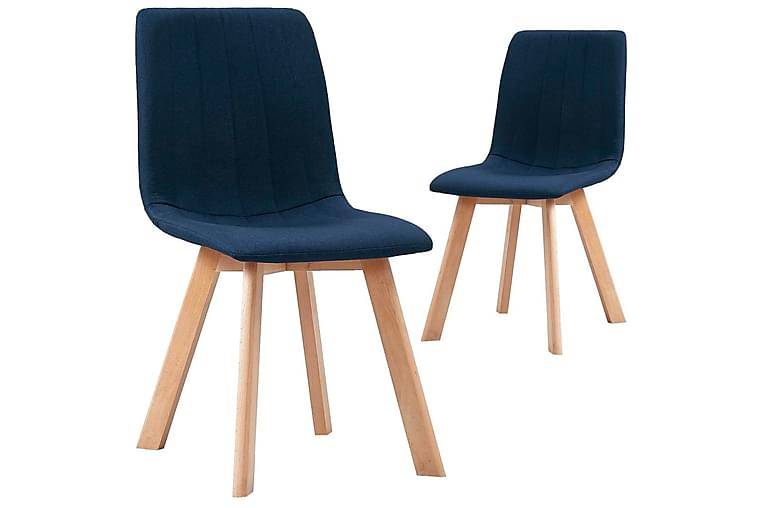 Ruokatuolit 2 kpl sininen kangas - Sininen - Huonekalut - Tuolit - Ruokatuolit