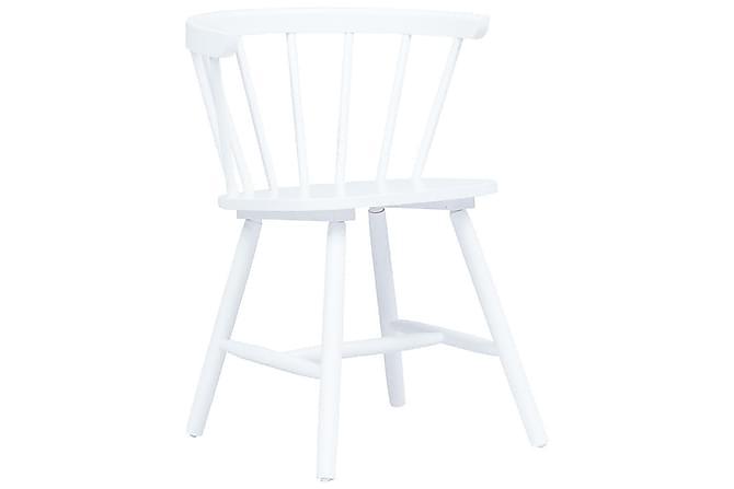 Ruokatuolit 6 kpl valkoinen täysi kumipuu - Valkoinen - Huonekalut - Tuolit - Ruokatuolit