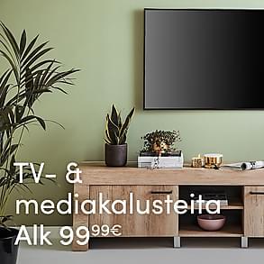 TV- & mediakalusteita alk. 99,99 €