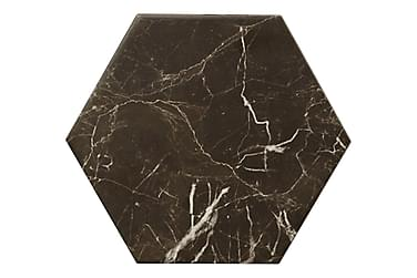Lattialaatta Hexagon Carrara Musta 20X23