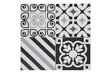 Lattialaatta Life Black and White 50X50