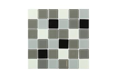 Kristallimosaiikki Black White and Grey 30X30
