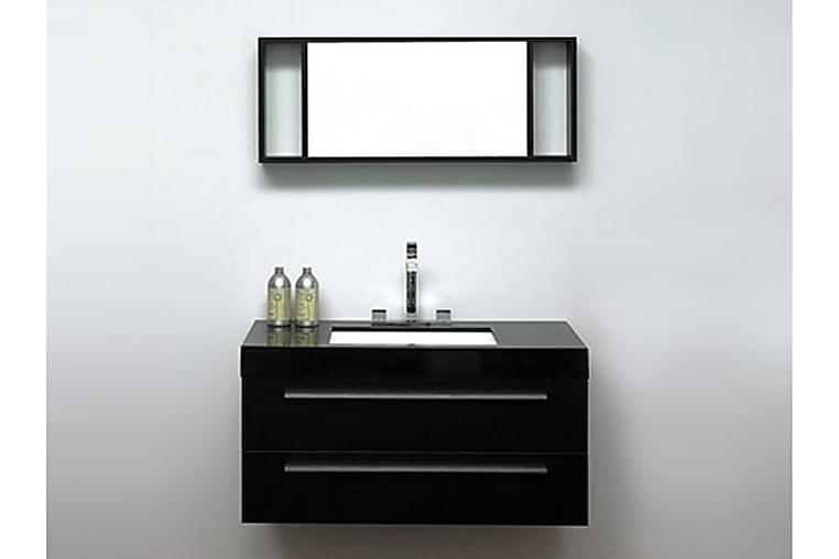 Kylpyhuonekalusteet Barcelona 47x100 cm - Musta - Kylpyhuone - Kylpyhuonekalusteet - Allaskaapit