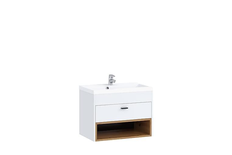 Pesuallaskaappi Kahambwe - Valkoinen - Kylpyhuone - Kylpyhuonekalusteet - Allaskaapit