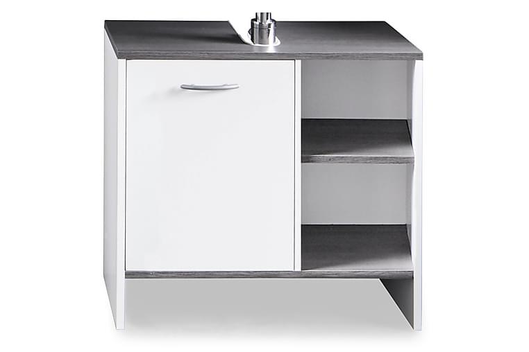 Pesuallaskaappi Mirka 60 cm ovi - Valkoinen/hopeanharmaa - Kylpyhuone - Kylpyhuonekalusteet - Allaskaapit