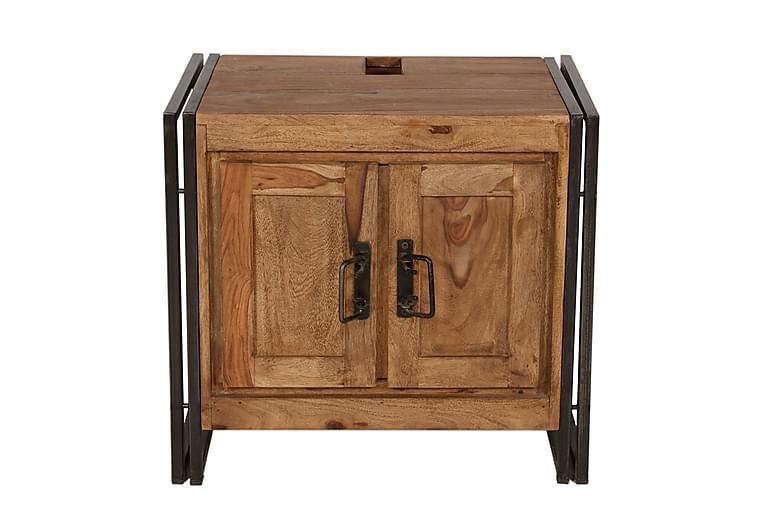 Pesuallaskaappi Netley - Puu/Luonnonväri/Musta - Kylpyhuone - Kylpyhuonekalusteet - Allaskaapit