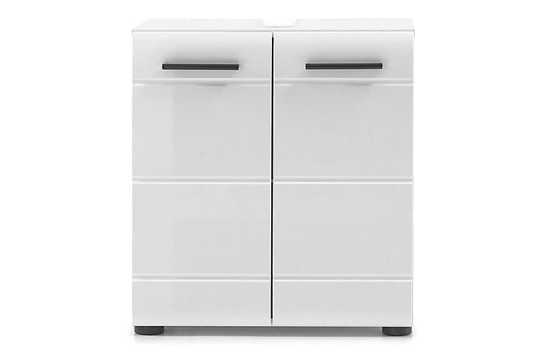 Pesuallaskaappi Seara 60 cm - Valkoinen/korkeakiiltovalk - Kylpyhuone - Kylpyhuonekalusteet - Allaskaapit