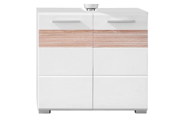 Pesuallaskaappi Walera 60 cm - Vaalea tammi/valkoinen - Kylpyhuone - Kylpyhuonekalusteet - Allaskaapit