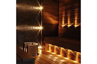 LED-saunavalosarja Saunaset Premium, 9-osainen, messinki
