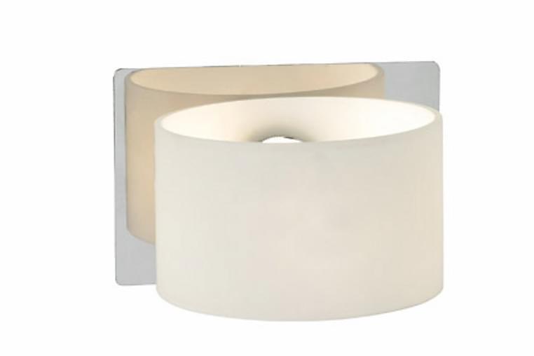 Seinävalaisin Sigtuna Kromi/Valkoinen - Markslöjd - Kylpyhuone - Kylpyhuonekalusteet - Kylpyhuoneen valaistus