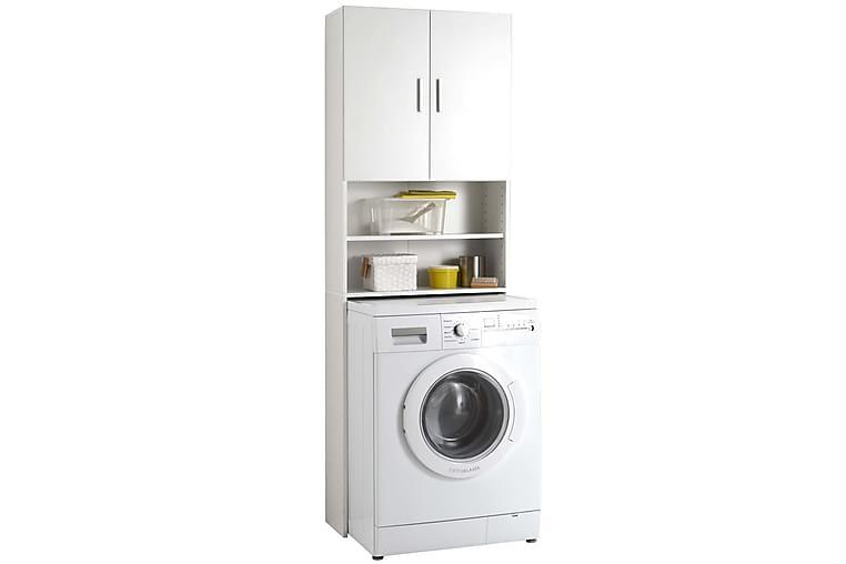 FMD Pesukonekaappi säilytystilalla valkoinen - Valkoinen - Kylpyhuone - Kylpyhuonekalusteet - Kylpyhuonekaapit