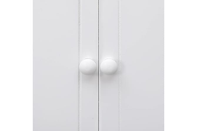 Kylpyhuoneen kaappi valkoinen 46x24x116 cm keisaripuu - Valkoinen - Kylpyhuone - Kylpyhuonekalusteet - Kylpyhuonekaapit