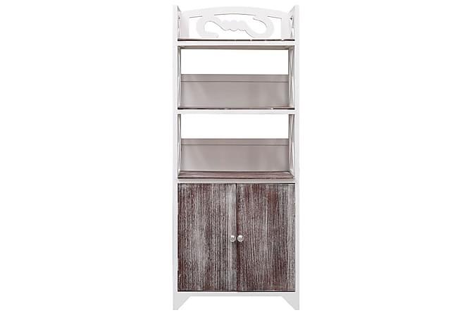 Kylpyhuoneen kaappi valkoinen ja ruskea 46x24x116 cm keisari - Ruskea - Kylpyhuone - Kylpyhuonekalusteet - Kylpyhuonekaapit