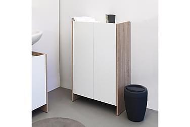 Kylpyhuonekaappi Frideborg Tammi/valkoinen