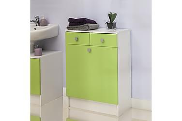 Kylpyhuonekaappi Jobsbo Valkoinen/vihreä