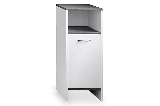 Lattiakaappi Mirka 32 cm - Valkoinen/Tummanharmaa - Kylpyhuone - Kylpyhuonekalusteet - Kylpyhuonekaapit