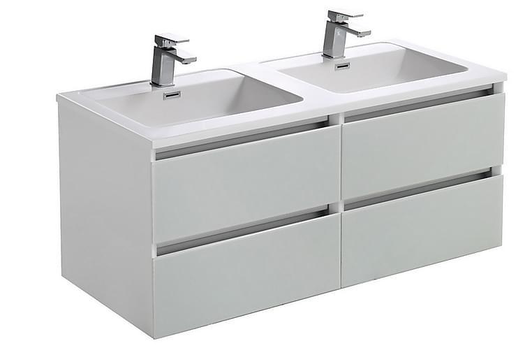 Kaappi altaalla ja LED-valolla - Karin - 120cm - Tupla - Kylpyhuone - Kylpyhuonekalusteet - Kylpyhuonekalustepaketit
