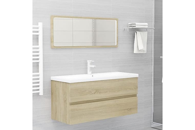 Kylpyhuoneen kalustesarja Sonoma-tammi lastulevy - Kylpyhuone - Kylpyhuonekalusteet - Kylpyhuonekalustepaketit