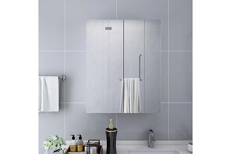 Kylpyhuoneen peilikaappi valkoinen 60x15x75 cm MDF - Kylpyhuone - Kylpyhuonekalusteet - Peilikaapit
