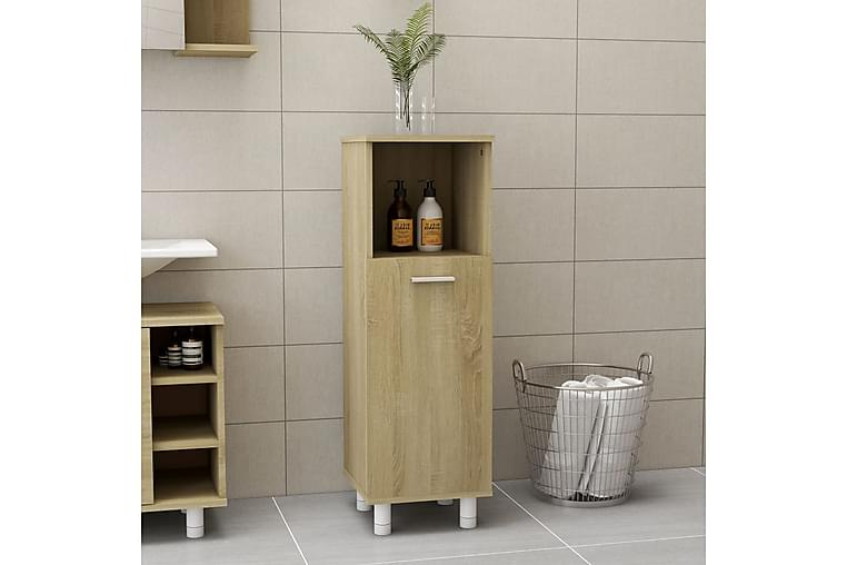 Kylpyhuonekaappi Sonoma-tammi 30x30x95 cm lastulevy - Ruskea - Kylpyhuone - Kylpyhuonekalusteet - Seinäkaapit & korkeat kaapit