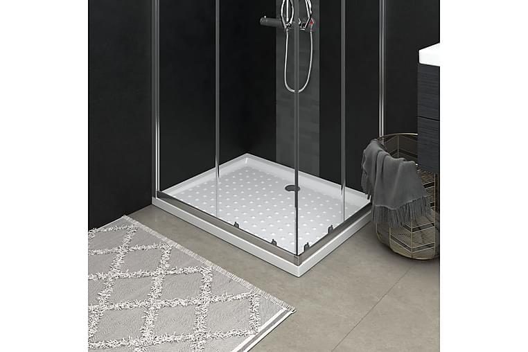 Suihkualusta valkoinen 90x70x4 cm ABS - Kylpyhuone - Kylpyhuonetarvikkeet - Muuta