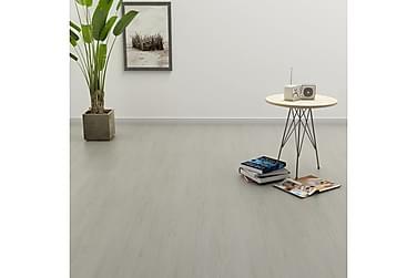 Itsekiinnittyvä lattialankku 4,46 m² 3mm PVC vaaleanharmaa