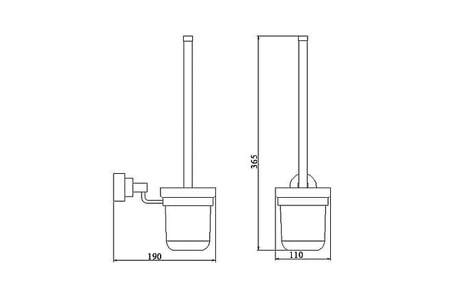 Blaze Square WC-harjateline - Kylpyhuone - Kylpyhuonetarvikkeet - Wc-harjat