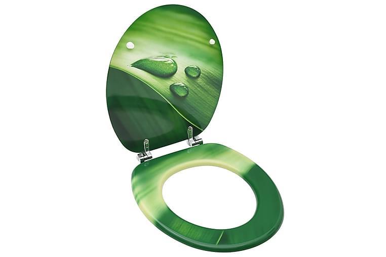 WC-istuin kannella MDF vihreä vesipisarakuosi - Vihreä - Kylpyhuone - Kylpyhuonetarvikkeet - Wc-istuimen kannet