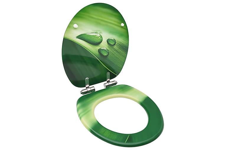 WC-istuin soft close -kannella MDF vihreä vesipisarakuvio - Vihreä - Kylpyhuone - Kylpyhuonetarvikkeet - Wc-istuimen kannet