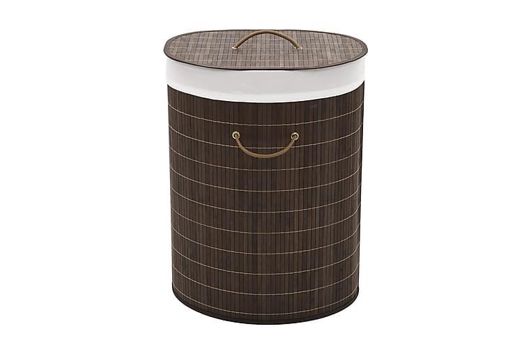 Bambu pyykkikori ovaali tummanruskea - Ruskea - Sisustustuotteet - Sisustuslaatikot & korit - Pyykkikorit